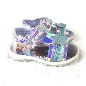 Frozen 2 Sandals Toddler Girls Size 6 Shimmery